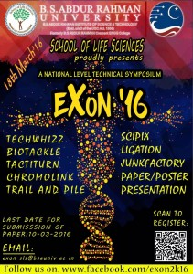EXON-2016 - A National Level Technical Symposium, conducted by Dr. Abdul Rahman University on March 18th 2016